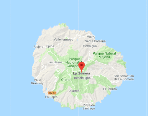 MAPA GEOGRAFICO DE ISLA LA GOMERA