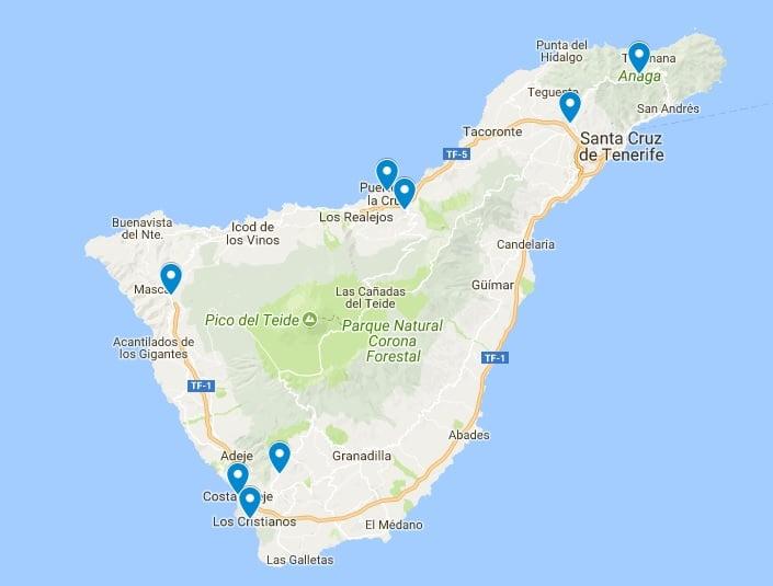 MAPA GEOGRAFICO DE TENERIFE